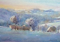 Watercolour-Demonstration-Sheep-in-the-Snow
