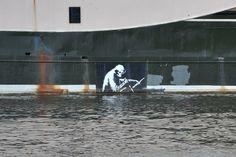 Banksy   Thekla Boat in Bristol