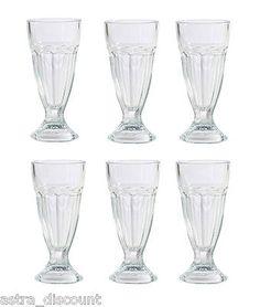 6 x Knickerbocker Glory Dessert Milkshake Ice Cream Sundae Glasses Dishes