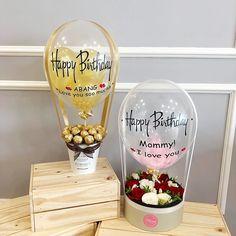 Diy Birthday Decorations, Balloon Decorations, Balloon Gift, Air Balloon, Diy Resin Crafts, Diy And Crafts, Craft Gifts, Diy Gifts, Candy Bouquet Diy