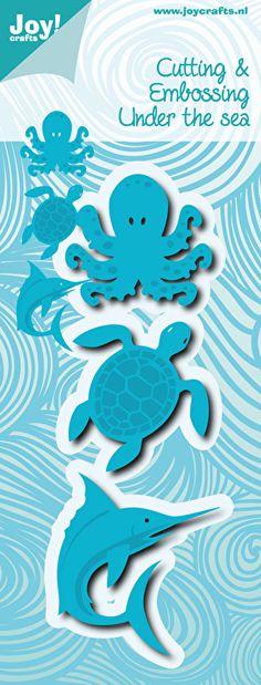 6002/0497 Noor! Design Under the Sea Inktvis, Schilpad, Haai - 3stuks