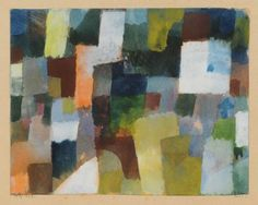 Paul Klee, Untitled [Spatial architecture, Tunisia], 1915, Watercolour with white gouache, Levy Bequest Purchase.