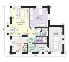 Rzut Dom przy Pomarańczowej 2 CE House Plans, Floor Plans, Flooring, How To Plan, Wood Flooring, House Floor Plans, Floor Plan Drawing, Floor, Home Plans
