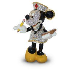 Jeweled Nurse Minnie Mouse Figurine by Arribas | Figurines & Keepsakes | Disney Store