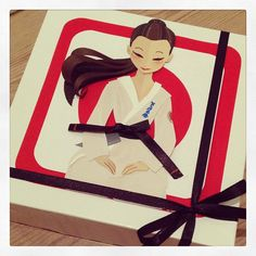 My Sempai is releasing her book #Karatekokken and I wanted to celebrate it with a little #treat. So I created this box and filled it with wonderful chocolates. #Osu and congrats to Nanette Madsen