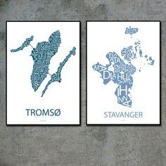 Tromsø og Stavanger Tromso, Stavanger, Prints, Design, Design Comics
