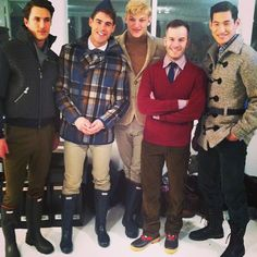 Hunter boots as the official shoe of the Marlon Gobel Autumn/Winter 2013 Show