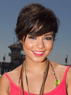 Layered Pixie with longer layers in front. Quit fighting with your flat iron and find a cute haircut that lets you rock your curls. Check out these celebrity hairstyles to see what works best for your 'do