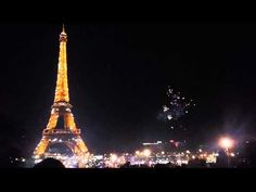 The real fireworks in Paris Eiffel Tower 2015 New Year