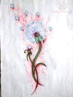 watercolor dandelion tattoo - Google Search