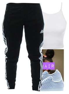 """In That Order ✨"" by wottice19 ❤ liked on Polyvore featuring adidas and LE3NO"