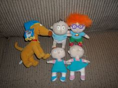 LOOK Nate!!! We watched this cartoon every single day for years. Lot of 5 RUGRATS Plush Dolls. Tommy, Chuckie, Phil & Lil, and Spike.