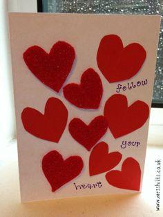 handmade valentines card