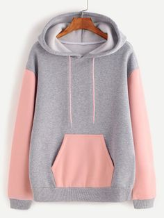 Heather Grey Contrast Sleeve And Pocket Hoodie — € ---------color: Grey size: L,M,S,XS Girls Fashion Clothes, Teen Fashion Outfits, Outfits For Teens, Cute Lazy Outfits, Girly Outfits, Cool Outfits, Mode Adidas, Stylish Hoodies, Sweatshirt Outfit