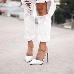 Tony Bianco - white heels #JustFAB