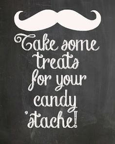 "25 Moustache Theme Brown Retro "" MY CANDY STACHE"" candy buffet bags, …"