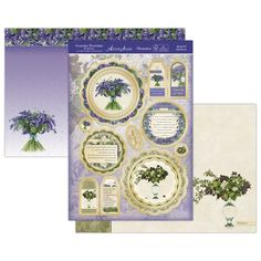 Scrapbooking Made Simple - Hunkydory Crafts - Hunkydory Garden Flowers Of Britain A4 Topper Set: Bluebell