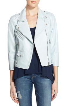 Rebecca Minkoff 'Wes' Crop Leather Moto Jacket