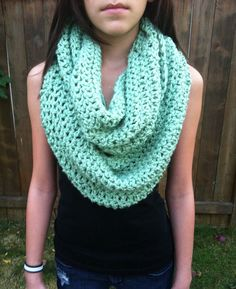 Mint Green Infinity Scarf. $28.00, via Etsy.