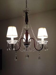 Araña En Hierro Oxido - $ 3.025,00 en Mercado Libre Chandelier Makeover, Candle Chandelier, Light Fixtures, Diy And Crafts, Interior Decorating, Ceiling Lights, Lighting, Stuffing, House
