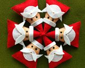 Santa (Felt) Ornament