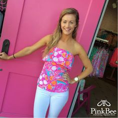 Lilly Pulitzer Pink Bee West End - Google+ Wiley Tube Top