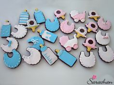 Bloggoloso: Biscotti decorati a tema baby