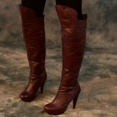 I just discovered this while shopping on Poshmark: Gorgeous over the knee leather boots!. Check it out! Price: $60 Size: 7.5