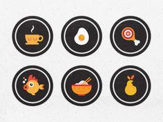 Blindfood App Badges | http://dribbble.com/shots/595181-Blindfood-App-Badges