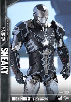 Marvel Iron Man Mark XV - Sneaky Sixth Scale Figure by Hot T | Sideshow… Marvel Dc Comics, Marvel Heroes, Marvel Avengers, All Iron Man Suits, Hot Toys Iron Man, Iron Man Art, Super Anime, Iron Man Wallpaper, Iron Man Avengers