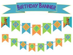 Scooby Doo Happy Birthday Birthday Banner by PamelasDigitalPrints, $10.00
