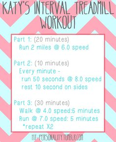 My absolute favorite treadmill workout I did 2-3... - Fit Personality