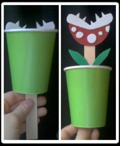 Super Mario Birthday: Piranha Plant Toy Craft activity - 10 count via Etsy