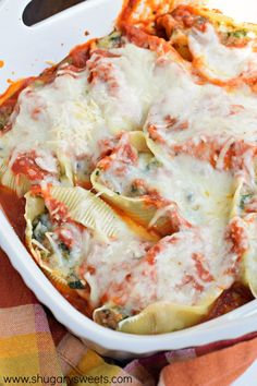 This Sausage Stuffed Shells recipe is delicious, easy and makes a great freezer meal for a quick dinner for family and friends! #Delicious_Recipes #Top_Recipes #2016_Recipes #Best_Recipes