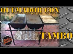 Simple and quick fire pit from a washing machine drum. I made this one for thew 5 day outdoor camp in H. Barbacoa, Diy Wood Stove, Barrel Bbq, Washing Machine Drum, Wood Charcoal, Oil Drum, Patio Bar, Diy Fire Pit, Youtube