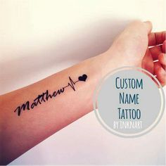 Heart of inknart more Baby Heartbeat Tattoos Baby Name Tattoo Ideas - . - … Heart of inknart more baby heartbeat tattoos baby name tattoo ideas – … Heart of inknart mo - Baby Name Tattoos, Mommy Tattoos, Tattoos With Kids Names, Mini Tattoos, Tattoos For Women Small, Trendy Tattoos, New Tattoos, Small Tattoos, Wrist Name Tattoos