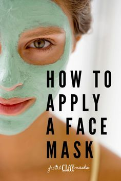 Do you apply a thick or thin layer of your favorite clay or mud mask? Should you apply with your fingers or face mask brush? We answer those questions + more.  #apply #face #mask #how #to #howto #instructions #brush #application #skincare #mud #clay #facial #facials #technique