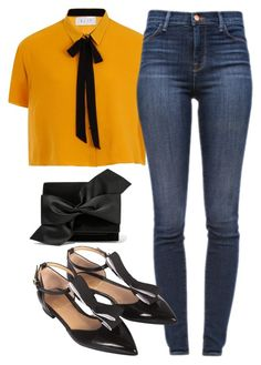 """Jueves!"" by rubie-ingrassia on Polyvore featuring moda, J Brand y Victoria Beckham"
