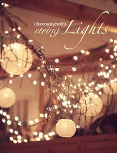 decorating with string lights