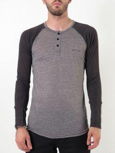 Dry Dock Sleeve Henley Raglan T-Shirt for men by Burton.