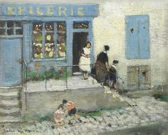 huariqueje:     L'epicerie: The Corner, Woman Shop  -    Jules-René Hervé  French 1887-1981