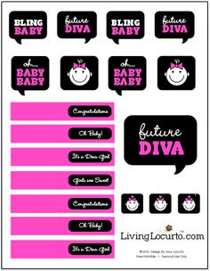 Free #Baby Shower Party #Printables by Amy Locurto at LivingLocurto.com