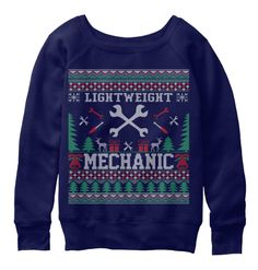 ab158c5df666b Lightweight Mechanic Christmas Sweater Navy Sweatshirt Front Black Friday  Shopping