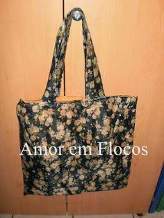 AMOR EM FLOCOS Ateliê Avezany - Arte e Costura: Eco bag dupla face - sombrinha reciclada