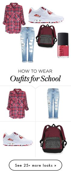 """#school"" by alexia2003 on Polyvore featuring Genetic Denim, NIKE, Victoria's Secret and NARS Cosmetics"
