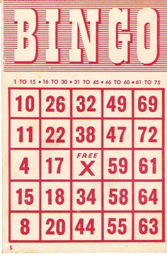 BINGO--I'm more of a helper with it (help people find the number if they have it).