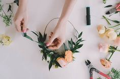 An Easy DIY Flower Crown Tutorial That Even Non-Boho Brides Will Love