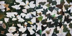 "Artist Reza Derakshani, ""Every Day & Every Night (Green)"", 2012. Oil, Tar and Glitter on Canvas"