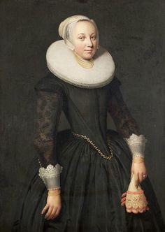 """Jan van Teylingen (Dutch painter ca. 1602 - Hoorn , 1654) """"Portrait of Hillegond Coninck"""""""