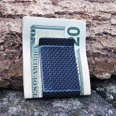 Carbon Fiber Money Clip - Blue